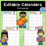 2018- 2019 Calendars / Editable Calendars 2018-2019