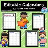 2019-2020 Calendars / Editable Calendars 2019-2020