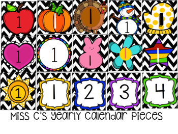 Yearly Calendar Pieces