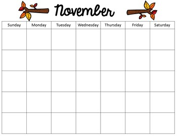 Yearly Calendar for Classroom or Homeschool Planning