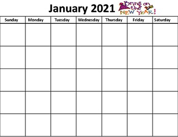 Yearly Calendar with Pictures, Cut and Paste and Highlighted words for all