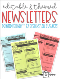 Yearly Editable Classroom Newsletters