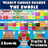 Digital Choice Boards Bundle | Seasonal Distance Learning
