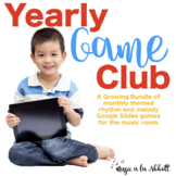 Yearly Game Club 2021 for Google Slides