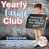 Music Games: Yearly Game Club for the Music Room  {A MEGA