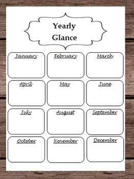 Yearly By Month Calendar - Birthdays Events Holidays Halloween Christmas Easter