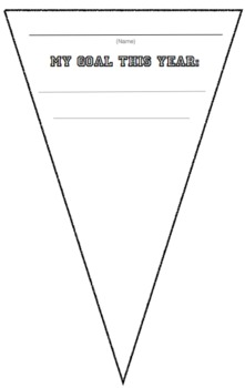 Yearly Goal Pennant