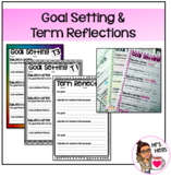 Yearly Goal Setting and Reflection Worksheets - WHOLE YEAR
