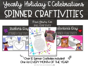 Yearly Holiday and Celebrations Spinner Crafitivities