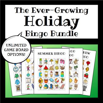 Yearly Holidays Bingo BUNDLE