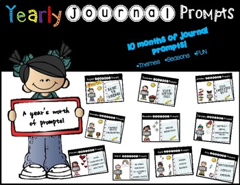 Yearly Journal Prompts BUNDLE - NO PREP / PAPERLESS / EDITABLE