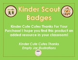 Yearly Kindergarten Goals - Scout Themed Badges