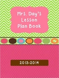 Yearly Lesson Plan Book and Calendar {Editable}