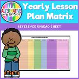 Yearly Lesson Plan Matrix