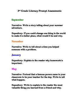 Yearly Literacy Prompts