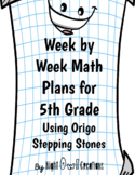 Yearly Math Plans for 5th Grade Using Origo Stepping Stone