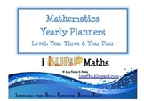 Yearly Mathematics Planners - Year Three & Year Four