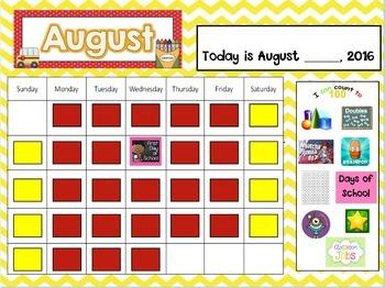 Yearly Mimio Calendars 2017-2018