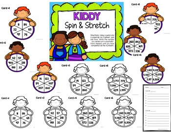 Yearly Place Value Spin & Stretch