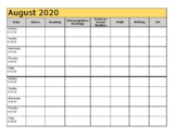 Yearly Planning Template - 2018-2019