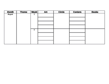 Yearly Planning Template