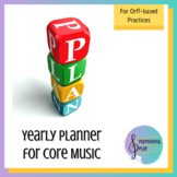 Yearly Planning for  K-5 Core Music Orff Based