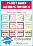 Yearly Pocket Chart Calendar Cards