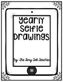 Yearly Selfie Drawings
