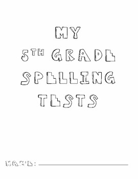 Yearly Spelling Test Booklet