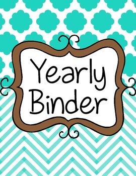 Yearly Teacher Binder