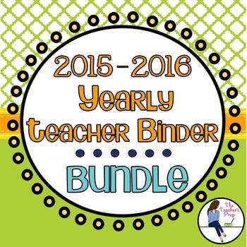 Yearly Teacher Binder Bundle - Citrus Grove