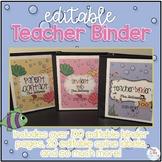 Editable Teacher Binder { Ocean Theme } Ultimate Teacher Survival Guide