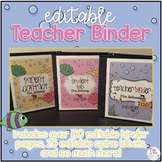 Editable Teacher Binder { Ocean Theme } Ultimate Teacher S