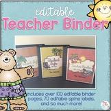 Editable Teacher Binder { Beach Theme } - The Ultimate Teacher Survival Binder