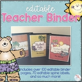Editable Teacher Binder { Beach Theme } - The Ultimate Tea