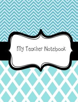 Yearly Teacher Notebook Organizer (aqua)