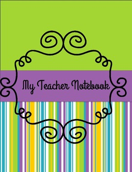Yearly Teacher Organizer Notebook (purple and lime)