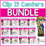 Yearly Tens Frame Clip It Centers BUNDLE