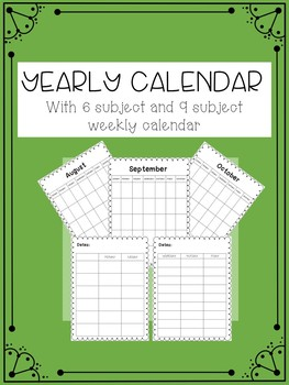 Yearly and Weekly Calendars