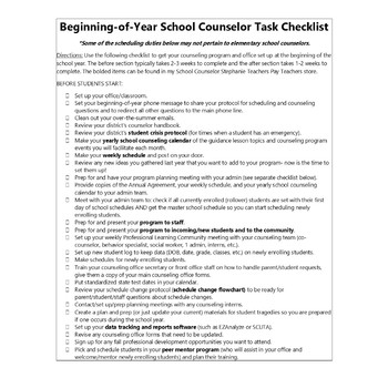 Yearly Counseling Curriculum, Weekly Schedule, & Other Organizational Templates