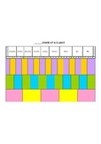 Yearly subject/topic organizer at a glance