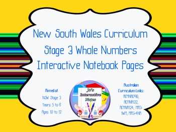 Stage 3 Whole Numbers Interactive Notebook Pages - Whole Topic