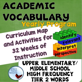 Word of the Week Academic Vocabulary Full Year Curricula Great for ESL