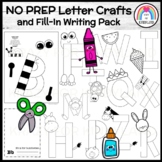 Letter Craft Bundle for Kindergarten with Interactive Notebook Pages