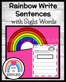 Year's Worth of Rainbow Write Sight Word Sentences