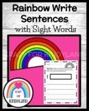 Rainbow Write Sight Word Sentences