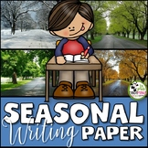 Seasons and Holidays Writing Paper (Lined) for Primary Grades