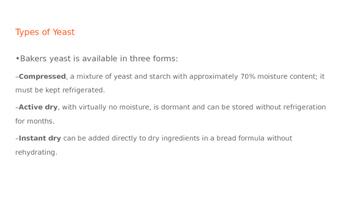 Yeast Bread PowerPoint