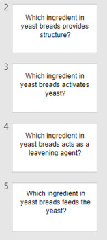 Yeast Breads Review Flashcards