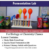 Yeast (Alcohol) Fermentation Lab - Inquiry Based Cellular